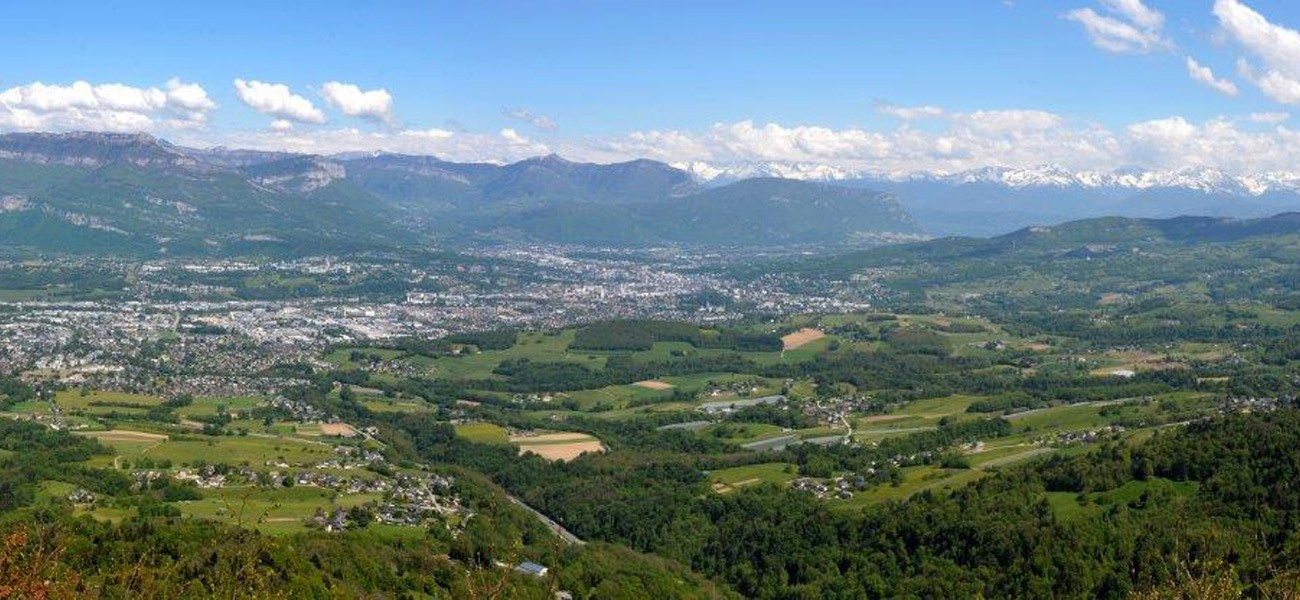 Camping in Savoie - Blick auf Chambéry